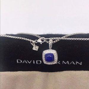 David Yurman Albion Necklace W/ Lapis & Diamonds